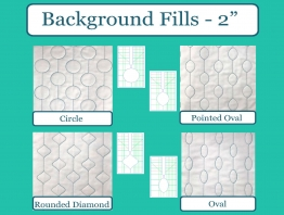 "Sew Biz - Background Fills 4pc Set 2"" Designs"
