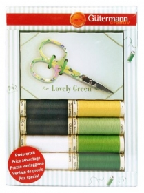 Gutermann Sewing Kit with Scissors - Lovely Green