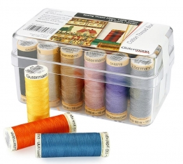 Gutermann 100% Cotton MultiPack Thread 18 Plastic Box