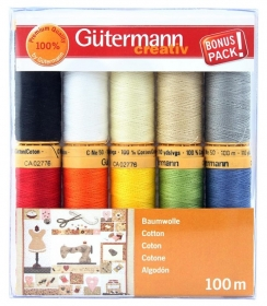 Gutermann Sewing Cotton Thread 10 pack