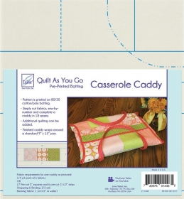 Quilt As You Go Pre-Printed Batting - Casserole Caddy