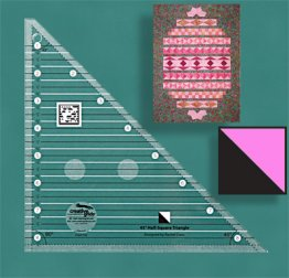 45° Half Square Triangle Ruler - Creative Grids