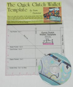 The Quick Clutch and Small Clutch Wallet Template - Pam Damour