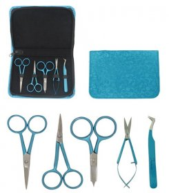 Coloured Embroidery Kit & Zipper Pouch - Famore Cutlery
