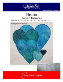 Heart Templates Set of 6 - Westalee
