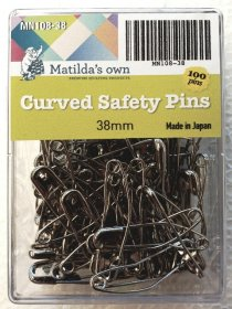 Curved Safety Pins 38mm by Matilda's Own