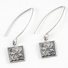 Sterling Silver Mini Dutchman's Puzzle Earrings on Long Wire