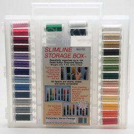 Slimline Storage Box Rayon Embroidery Starter Assortment by Sulky ®