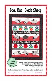 Baa, Baa, Black Sheep Quilt Pattern - By Annie