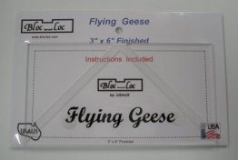 "Bloc Loc Flying Geese Square Up Ruler 3"" x 6"""