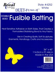 Bosal Duet-Fuse-11 ™ - Double-Sided Fusible Batting