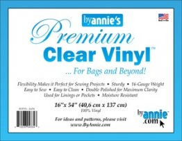 Premium Clear Vinyl for Bags/Organizers - By Annie