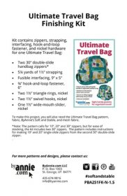 Ultimate Travel Bag Finishing Kit - By Annie