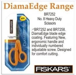 Fiskars ® DiamaEdge No. 8 Heavy-Duty Scissors 7252