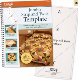 Jumbo Strip and Twist Template  - Template & Book