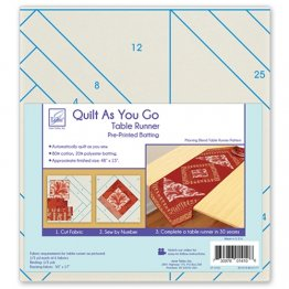 Quilt As You Go Table Runner Pre-Printed Batting - Morning Blend Pattern - June Tailor