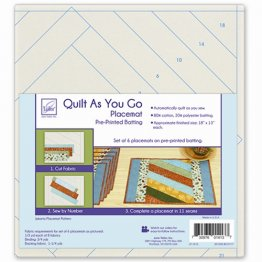 Quilt As You Go Placemat Pre-Printed Batting - Jakarta Pattern - June Tailor