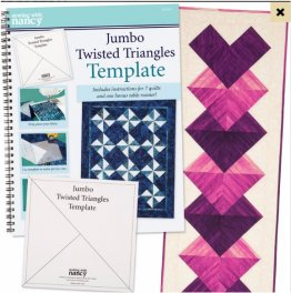 Jumbo Twisted Triangles Template and Book