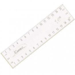 "No Slip Straight Ruler 16"" x 4"" by Martelli"
