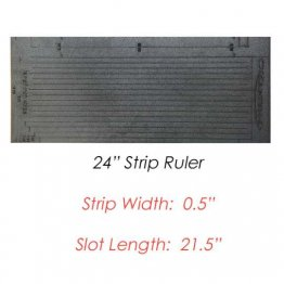 "No Slip Strip Ruler 24"" with 0.5 width strips - Martelli"