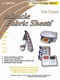 Miracle Fabric Sheets Tea-Dyed 5 from the Bubble Jet Set Company