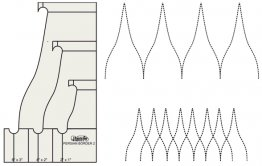 "Persian Border 3 nested tool sizes  6"" x 3"" - 4"" x 2"" - 2"" x 1"""