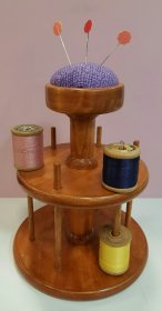 2 Tier Cotton Reel Holder/Pincushion