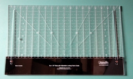 "Westalee 18.5 - 8.5"" Adjustable Ruler with Locking Fabric Guide"
