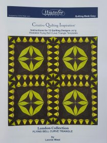Creative Quilting Inspiration 12 Designs in a Book - London Collection - Flying Bell Curve Triangle
