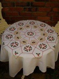 Christmas Tablecloth Pattern - The Sewing Revolution