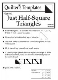 Just Half-Square Triangles - Marti Michell's Quilter's Templates
