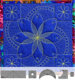 Flower Power Block Template Set by Westalee Design