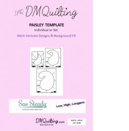 DM Quilting - Paisley Template