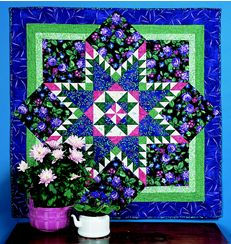 Feathered Star Medallion Quilt by Marti Michell