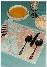 Pleated Placemats with Serviette Rings