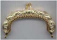FR600 - 3 inch Curved Antique Gold or Antique Silver