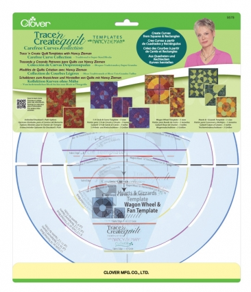 Clover Trace 'n Create Quilt Carefree Curves Templates with Nancy Zieman