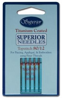 Superior Titanium-Coated Topstitch Needles