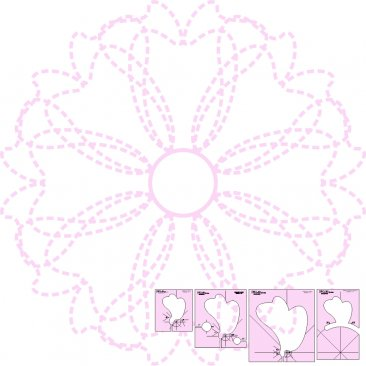 DM Quilting – Ribbons & Bows & Wreath Template Set
