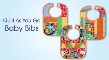 Quilt As You Go Pre-Printed Batting - Baby Bibs