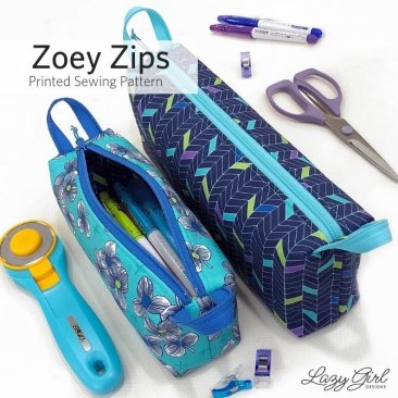 Zoey Zips Bag Pattern - Lazy Girl Designs