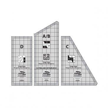 6 in finishd blocks with 4 templates by Creative Grids Creative Grids non slip Scrap Crazy