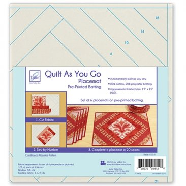Quilt As You Go Placemat Pre-Printed Batting - Casablanca Pattern - June Tailor
